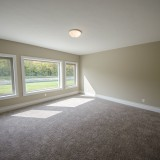 The Reese's custom bedroom on the lower level by Design Homes.