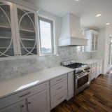 Custom kitchen cupboards by Design Homes.