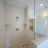 The Reese's custom master shower by Design Homes.