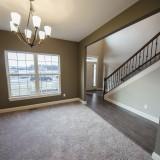 Custom dining room by Design Homes, custom home builder.