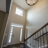 Custom entry by Design Homes, custom home builder.