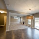 Custom breakfast nook by Design Homes, custom home builder.