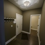 Custom mud room by Design Homes, custom home builder.