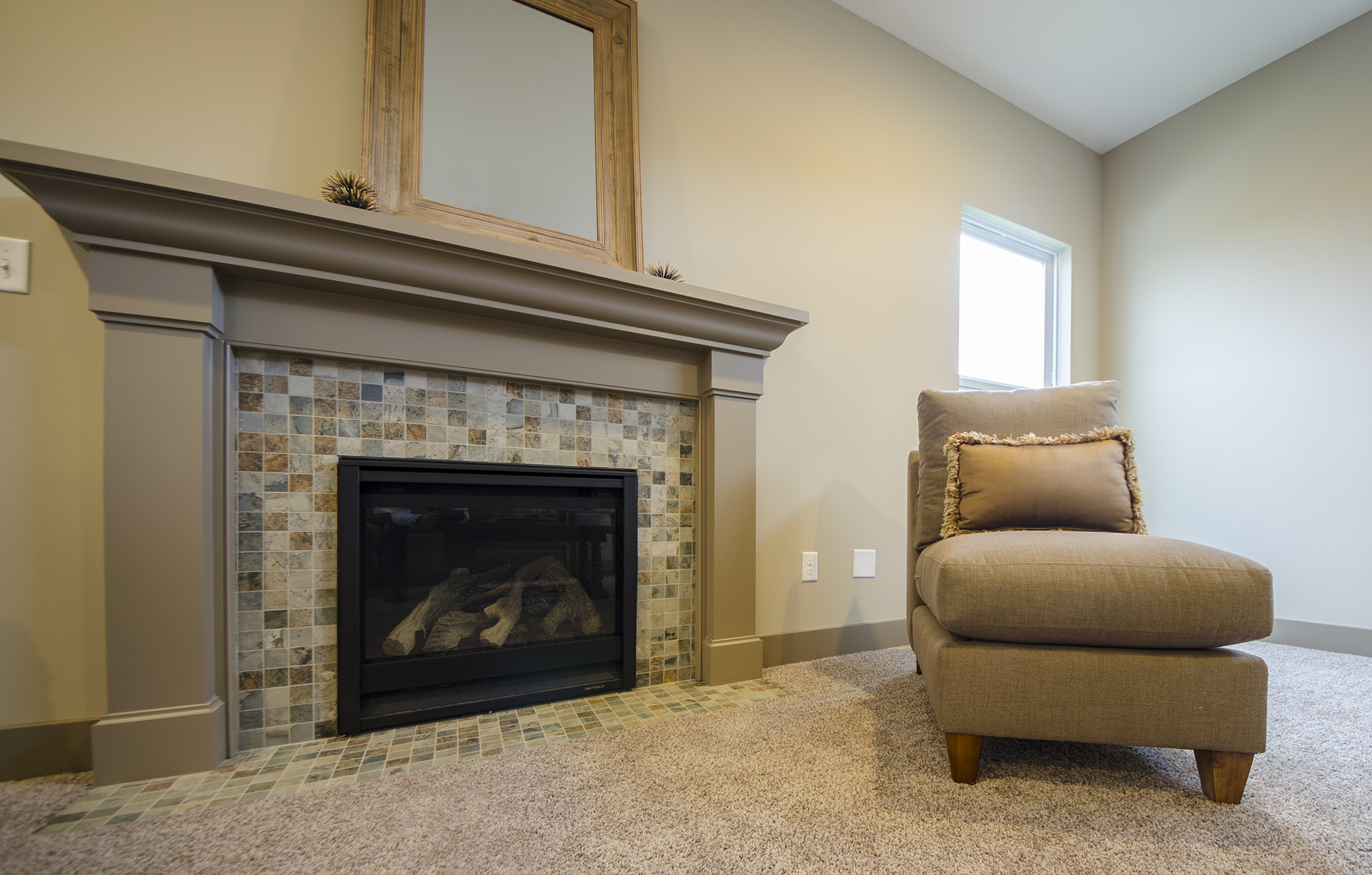 Custom Fireplace In The Great Room By Design Homes