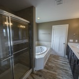 The Sarah custom bath by Design Homes.