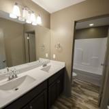 Custom second floor bath in The Sarah by Design Homes.