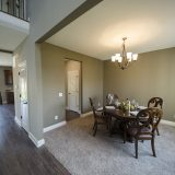 Custom dining room in The Sarah II, by Design Homes.