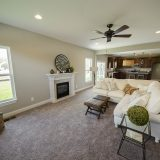 Custom great room in The Sarah II, by Design Homes.