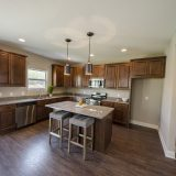 Custom kitchen in The Sarah II, by Design Homes.