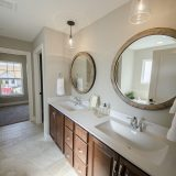 Custom master bathroom in The Sarah II, by Design Homes.