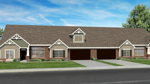 Rendering of The Sheffield, a custom new floorplan by Design Homes.