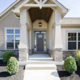 Custom exterior in The Shiloh. A custom, move-in ready home by Design Homes and Development.