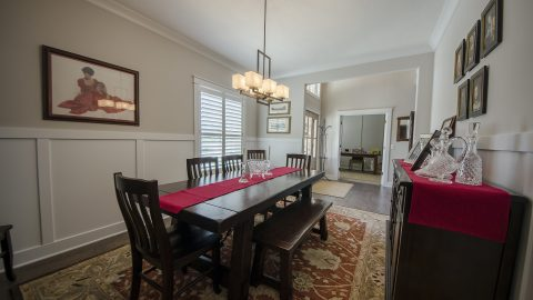Custom dining room in The Sierra, by Design Homes & Development.