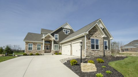 Custom exterior of The Sierra, by Design Homes & Development.