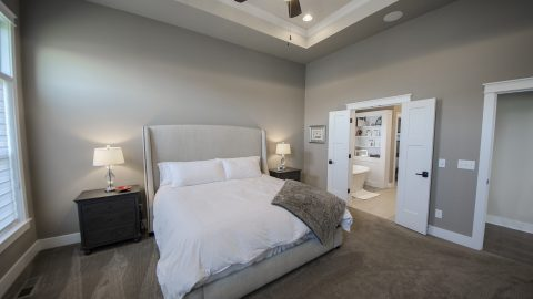 Custom master bedroom in The Sierra, by Design Homes & Development.