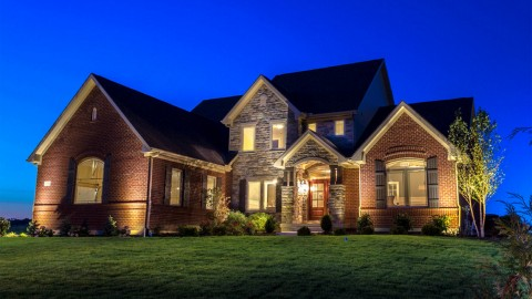 Custom exterior of a Triple Crown model by Design Homes and Development.