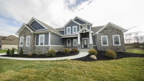 Custom exterior by Design Homes.