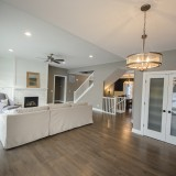 Custom breakfast nook and great room by Design Homes, custom home builder.