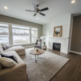 Custom great room by Design Homes, custom home builder.