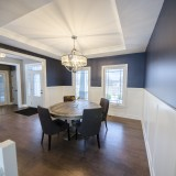 Custom dining room by Design Homes, custom home builder.