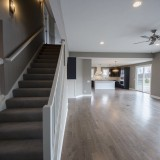 Custom stairwell in the Triple Crown by Design Homes.