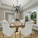 Custom dining room of the Triple Crown in Cypress Ridge. By Design Homes & Development.