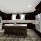 Custom kitchen of the Triple Crown in Cypress Ridge. By Design Homes & Development.